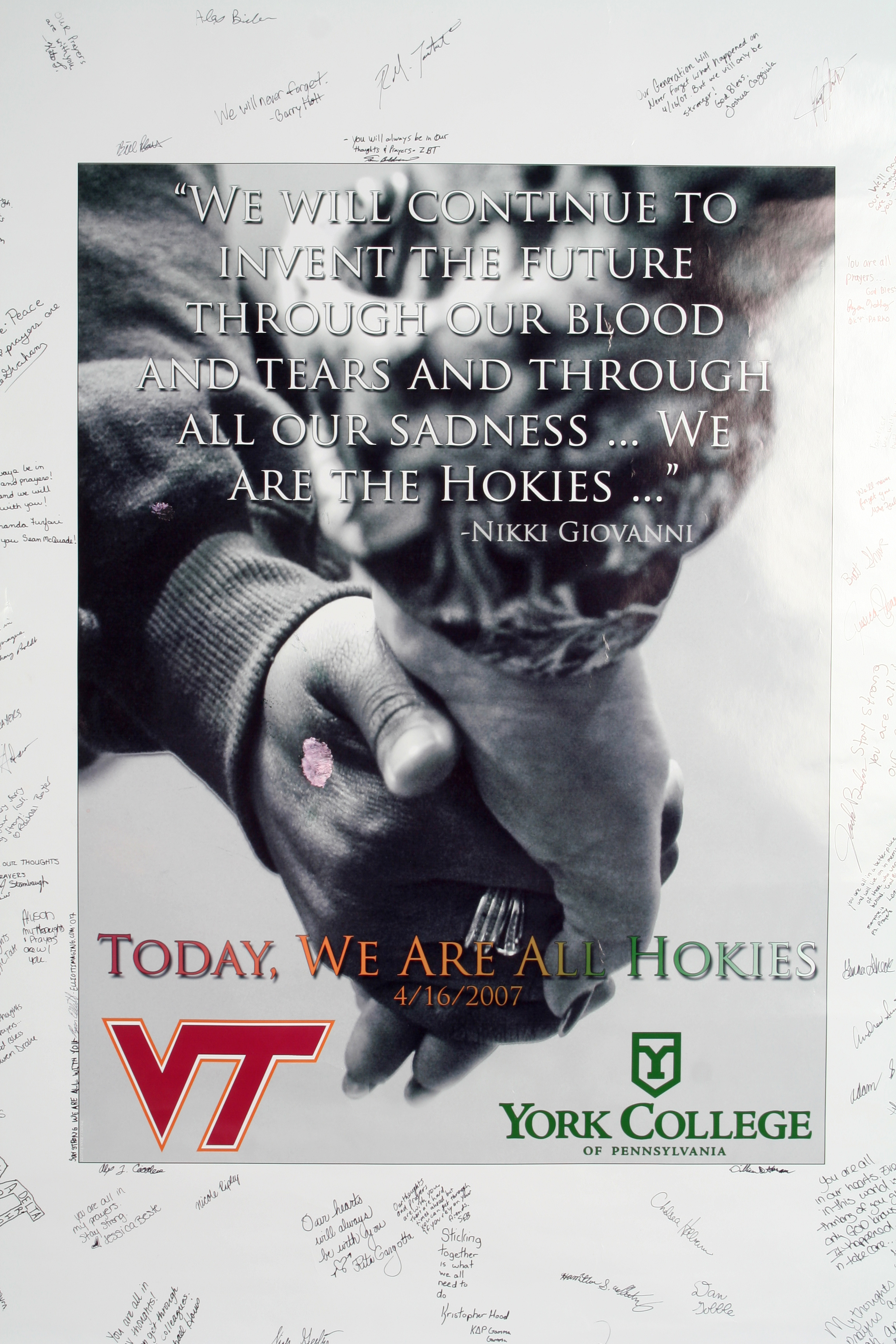 Vet Tech Quotes Poster From York College Features Quote From Nikki Giovanni's Poem