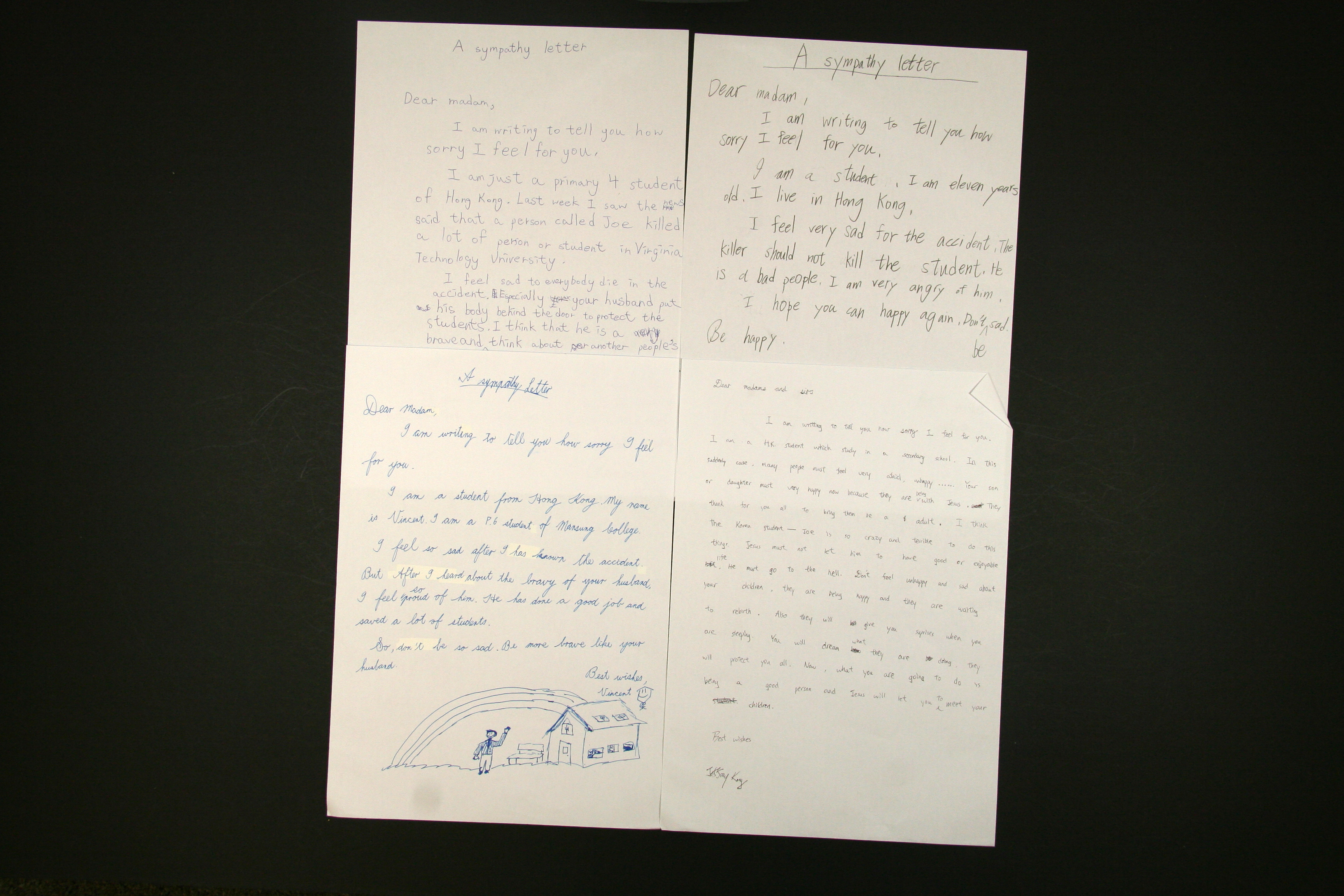 Letters from Primary School of Mansung College