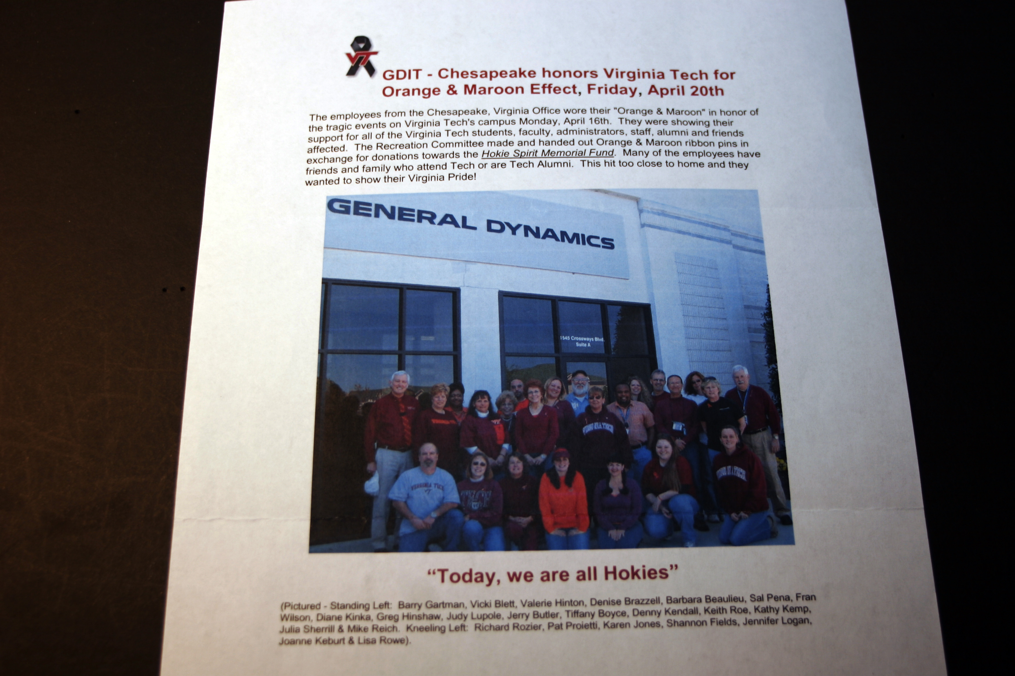 Photograph of General Dynamics Information Technology employees