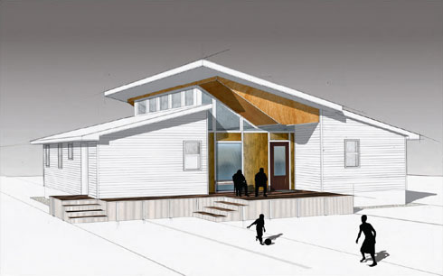 Students Bring Prefabrication And Custom Design Together In An Innovative  House For Habitat For Humanity